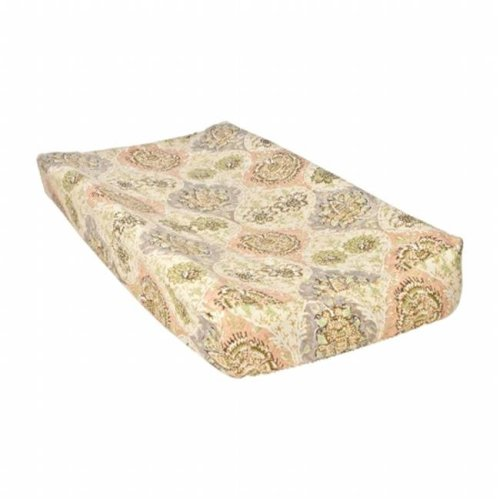 Trend Lab 2 71153 Rosewater Glam Damask Changing Pad Cover