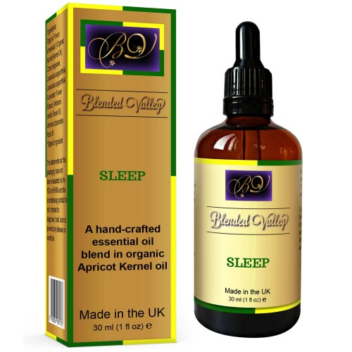 Sleep Oil - Aromatherapy Aid for Better, Deep Sleep. Lavender, Chamomile and Bergamot in Apricot Oil. Calming Aroma for Relaxation or Stress...