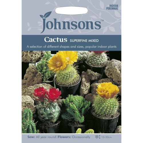 Johnsons Seeds - Pictorial Pack - Flower - Cactus Superfine Mixed - 30 Seeds