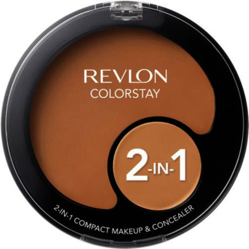 Revlon Colorstay 2 In 1 Compact Makeup + Concealer, Caramel 400