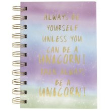 Unicorn Quote A6 Notebook | Unicorn Themed Journal