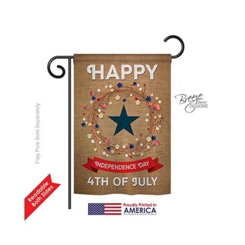 Breeze Decor 61068 Fourth of July Independence Day 2-Sided Impression Garden Flag - 13 x 18.5 in.