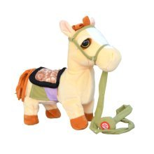 Electric Leash Horse Plush Toy