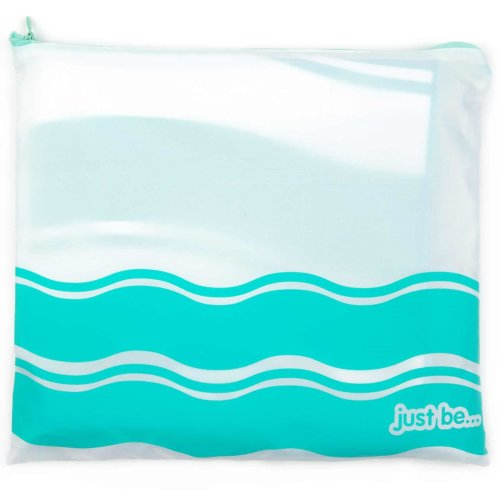 just be... Microfibre Wave Beach Towel - Green Large 160 x 80cm