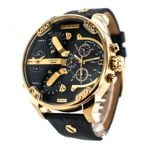 dfe2d77f4 Diesel Big Daddy 2.0 Black and Gold 66mm Men's Watch on OnBuy