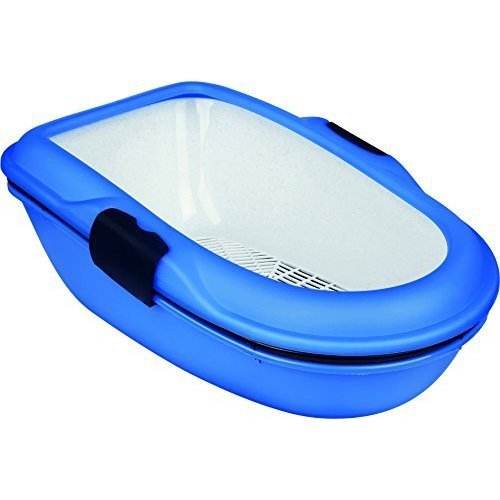 Trixie Barto 40152 Cat Litter Tray 39 × 22 × 59cm Light Blue / Dark Blue / - -  litter tray trixie berto cat blue barto dark 40152 separation system
