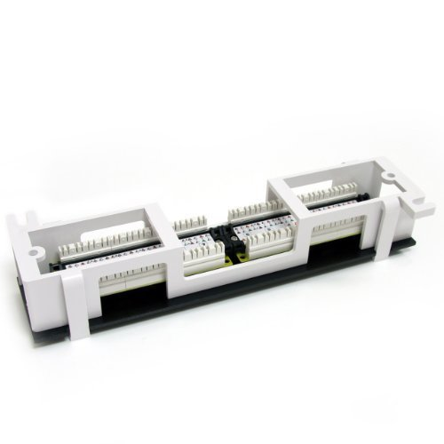 12 Port 1U Wall Mount Cat 6 110 Patch Panel 45 Degree