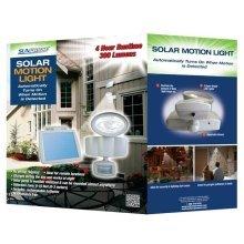 Sunforce Solar LED New Motion Sensor Security Light with Solar Panel