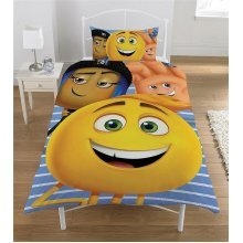 The Emoji Movie Reversible Single Duvet Cover Set