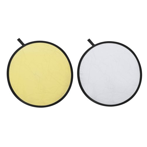 2-in-1 Gold and Silver Reflector Backdrop 80 cm