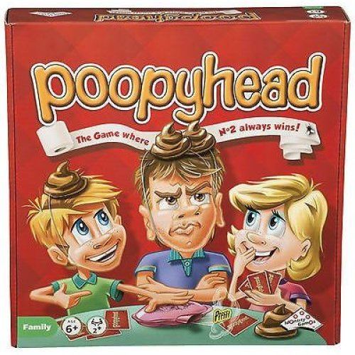 Fun Kids Board Game Christmas Present New Poopy Head
