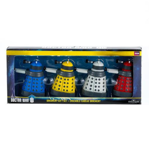 Kurt Adler Dalek Ornaments 4pc | Doctor Who Dalek Ornaments