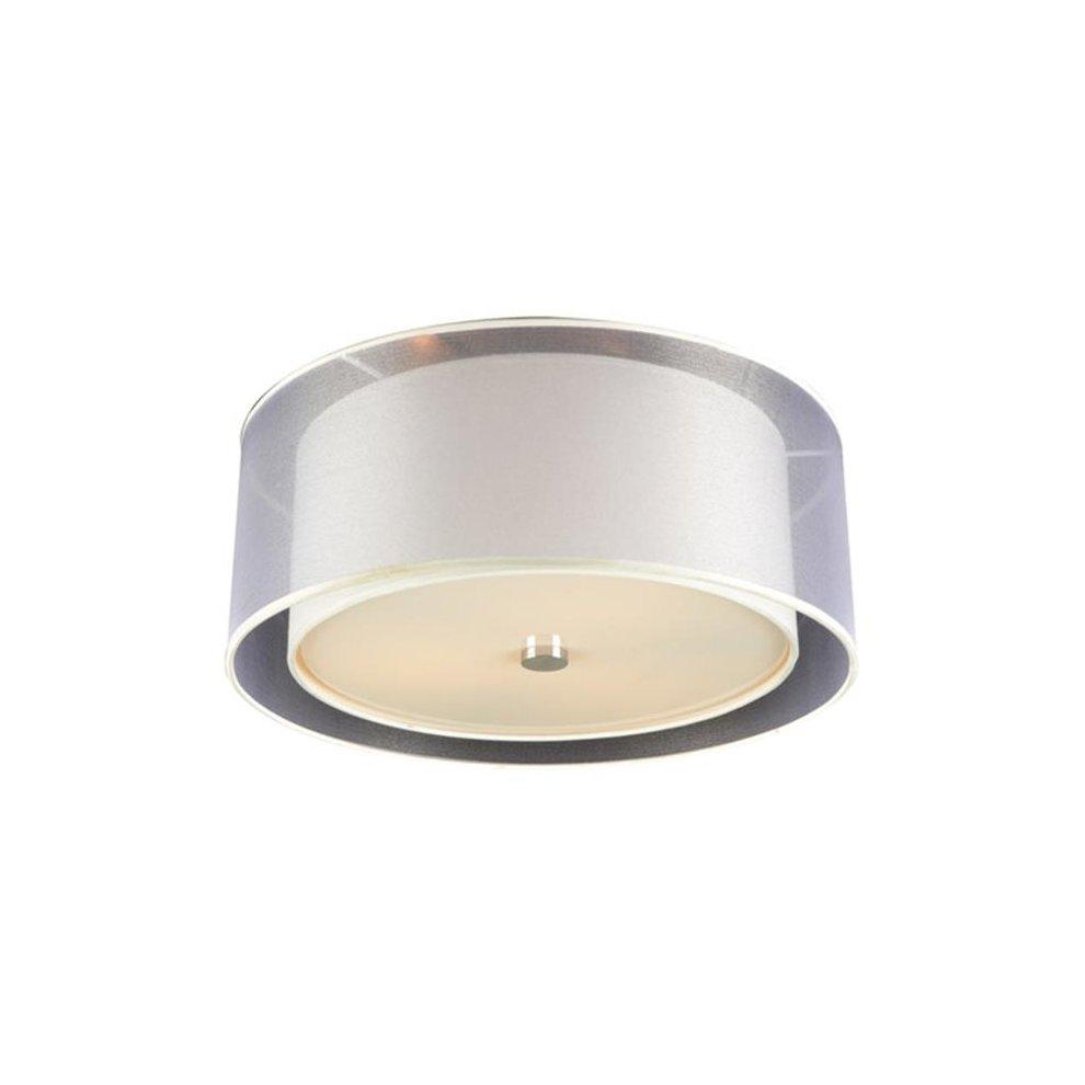 Plc Lighting 7676pcled Merritt 3 Light Ceiling Polished Chrome
