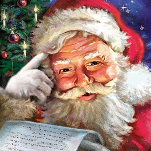 Ambiente 3 Ply Paper Napkins, Remember Santa