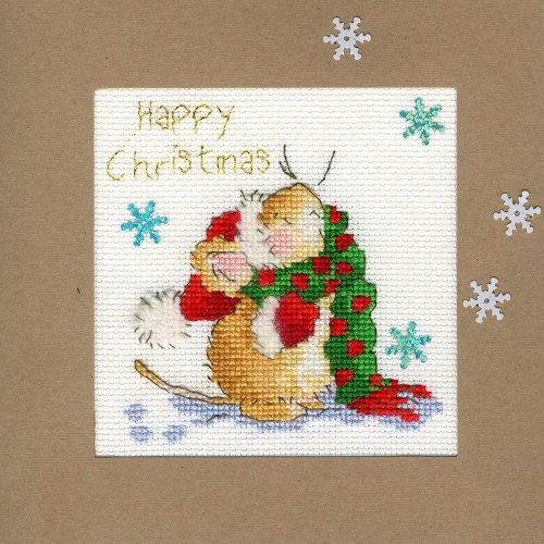 Bothy Threads Cross Stitch Kit - Christmas cards :   Counting Snowflakes XMAS18