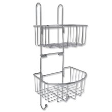 Metal Shower Shelf 2-Tier with 2 Hangers