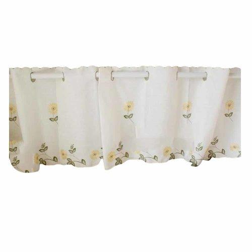 Daisy - Translucent Short Kitchen Curtain Window Curtain Cafe Tier Curtain Gauze