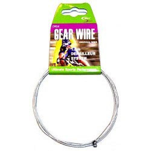 1.8m Silver Derailleur Gear Wire System -  gear sport direct cycle cable wire derailleur system 18 silver