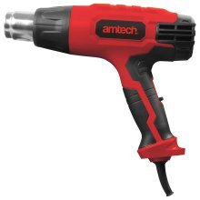 Am-tech V6035 Hot Air Gun With 2 Temperature Modes And Accessories, 2000 W, 230 -  amtech 2000w hot air 4 heat nozzles v6035 year warranty