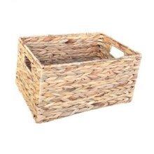 Large Water Hyacinth Rectangular Storage Basket