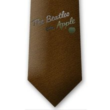 The Beatles Unisex On Apple Neck Tie, Brown, One Size -