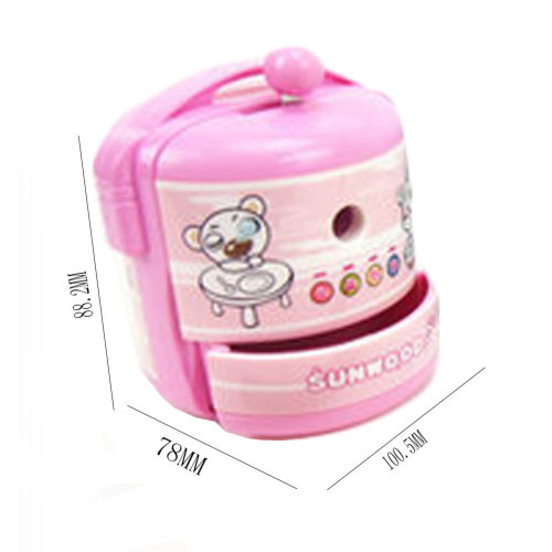 Cute Rice Cooker Manual Pencil Sharpener for Office and Classroom (Pink)