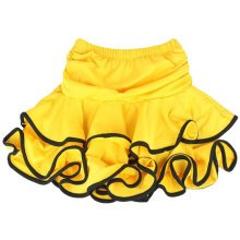 Beautiful Girls Latin Dance Skirt Latin Practice Dress M, YELLOW