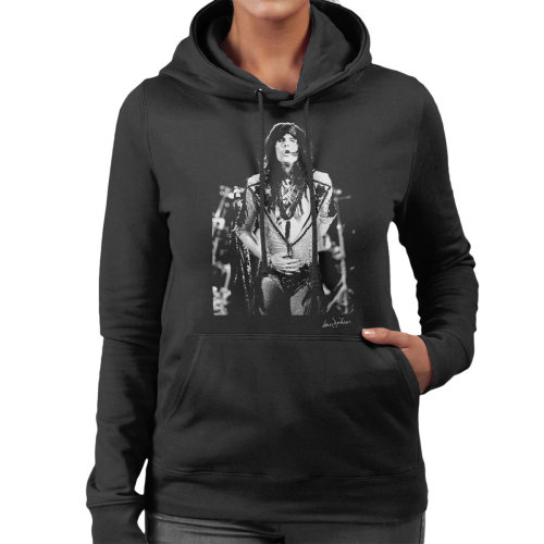Ian Dickson Official Photography - Aerosmith Steven Tyler 1989 Women's Hooded Sweatshirt