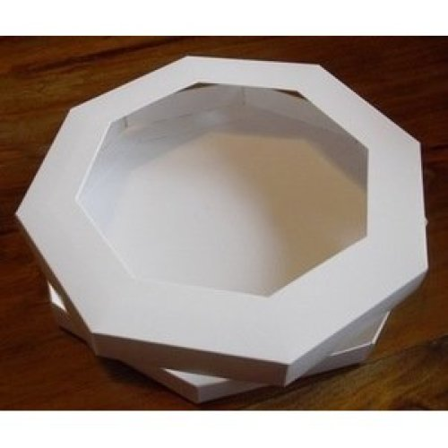 "3 x Octagon Aperture 8"" x 8"" Greeting Card Box with Acetate & Card Blanks"