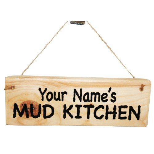 Personalised Mud Kitchen Plaque | Hanging Mud Kitchen Sign