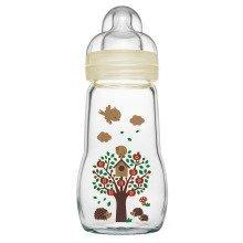 Mam Feel Good Glass Bottle - 260ml - Unisex