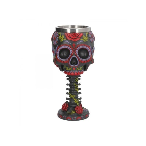 Nemesis Twilight Sugar Blooms 18cm Suger Skull Drinking Cup Chalice Gothic Bone