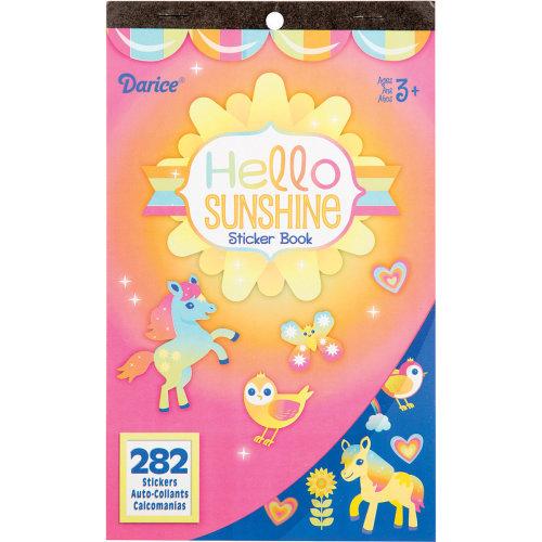 """Sticker Book 9.5""""X6""""-Hello Sunshine 282/Pkg"""