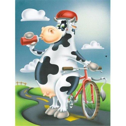 Carolines Treasures APH0532GF Cow on a Bike Ride Flag Garden Size