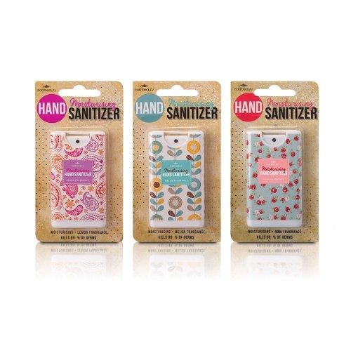 Moisturising Antibacterial Set Of 3 Hand Sanitizer Novelty Spray Paisley