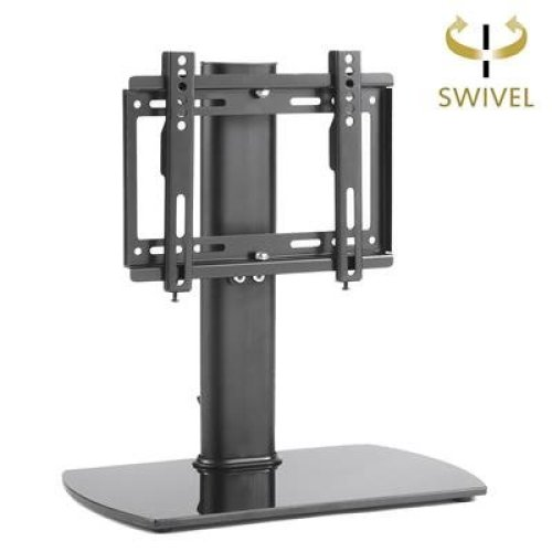 RFIVER Universal Pedestal Table Top TV Stand /TV Bracket /TV riser/TV base with Swivel Height Adjustable for 20 to 37 inch LCD LED OLED TVs