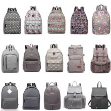 KONO Unisex Backpack Boys Girls School Bag