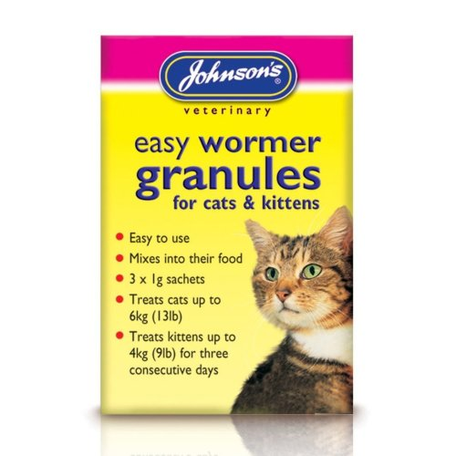 Jvp Cat & Kitten Easy Wormer Granules (Pack of 6)