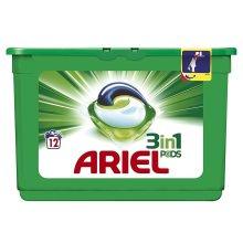 Ariel 3-in-1 Original Liquitabs Bio Washing Detergent Cleaning Pods - 12 Washes