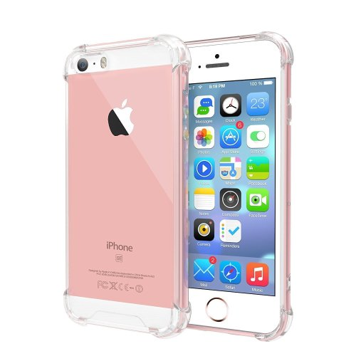 on sale 25f61 831a0 For iPhone 5 /5S /SE Crystal Clear Silicone Case
