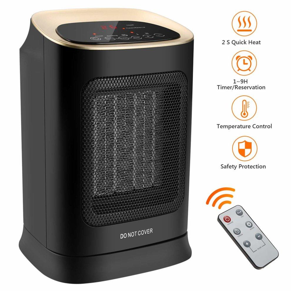 NEXGADGET 1800W/900W Ceramic Space Heater, Electric Mini