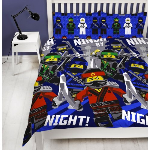 The Lego Ninjago Movie 'Ninja' DOUBLE Duvet Cover Bed Set