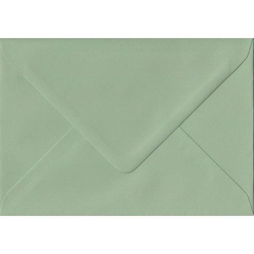 Heritage Green Gummed C7/A7 Coloured Green Envelopes. 100gsm FSC Sustainable Paper. 82mm x 113mm. Banker Style Envelope.