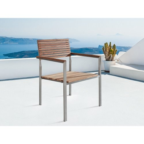 Garden Chair - Stainless steel - Teak Chair - VIAREGGIO