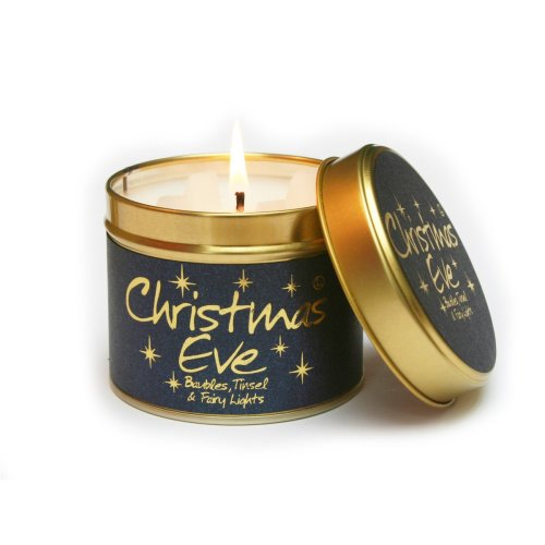 Lily Flame Candle in a Tin - Christmas Eve