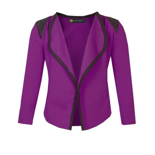 Girls Blazer Jacket with Shoulder Detail