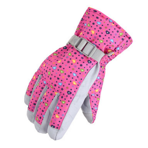 1 Pair Outdoor Winter Cycling Cold-proof Gloves Waterproof Skiing Gloves Warm Gloves,K