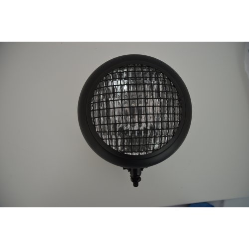 "6.5"" Bottom Mount Black Steel Mesh Grille Motorcycle Headlight Universal Fit"