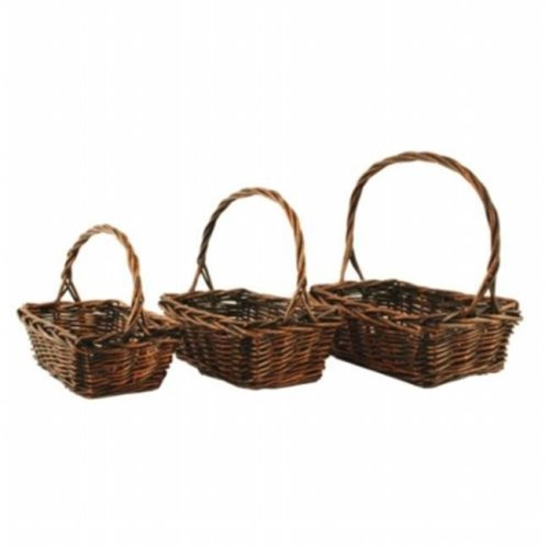 Wald 0447 Set Of 3 Stained Willow Baskets