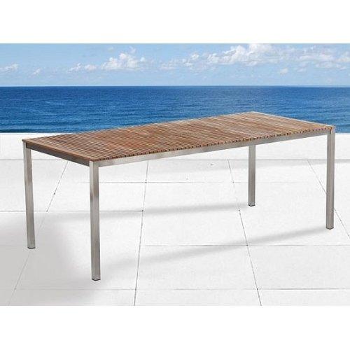 Garden Table - Dining Table 200x90 - Teak- Steel Table - VIAREGGIO